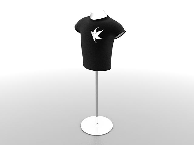 T-shirt mannequin torso 3d rendering