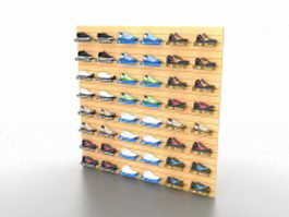 Shoe store shelving 3d preview