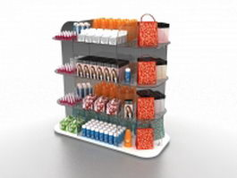 Retail cosmetic display 3d preview