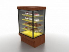 Bakery cake display 3d preview