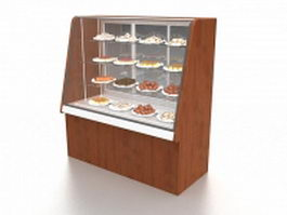 Dessert display case 3d preview