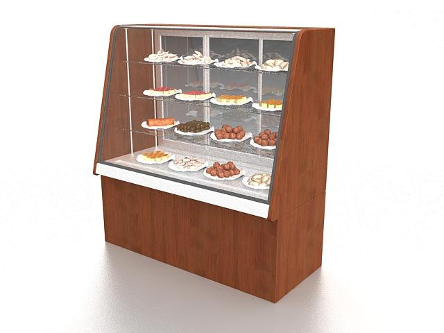 Dessert display case 3d rendering