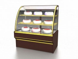 Cake display case 3d preview