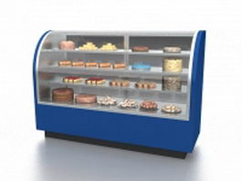Ice cream cake display case 3d preview