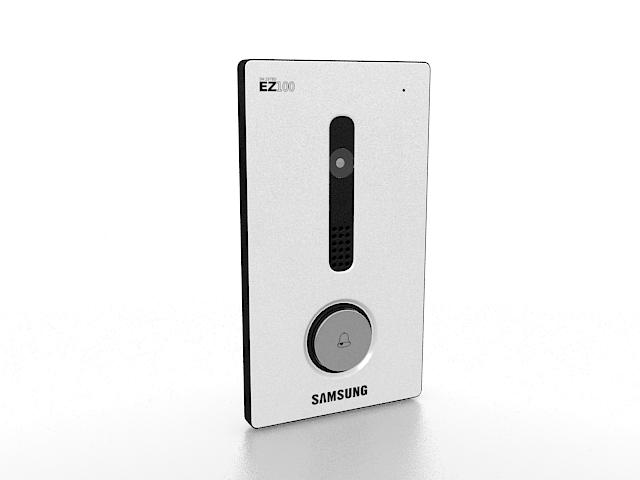 Samsung doorbell 3d rendering
