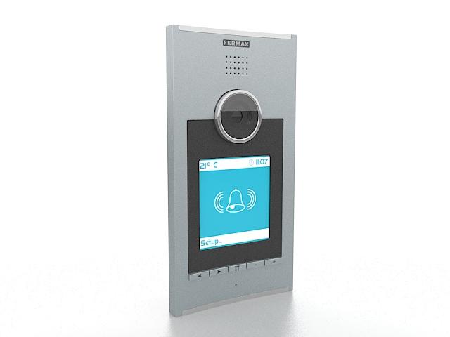 Fermax doorbell camera 3d rendering