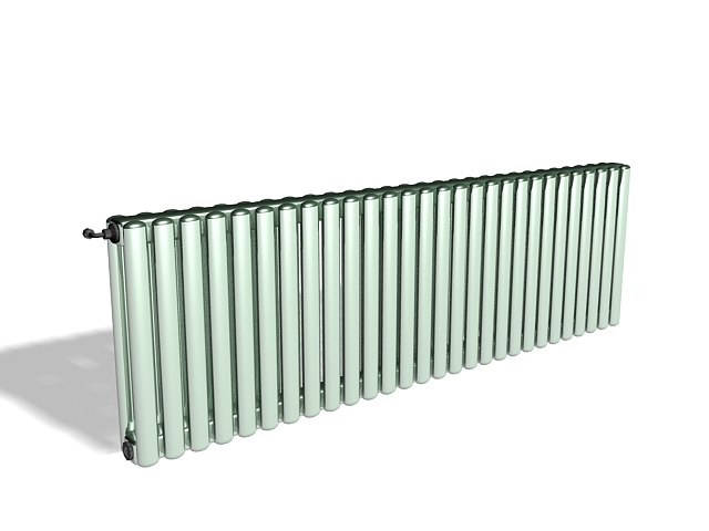 Old heating radiators for home 3d rendering