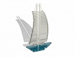 Sailing shaped radiators grille 3d model preview