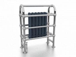 Floor standing towel radiator 3d model preview