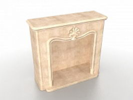 Sandstone fireplace surround 3d model preview