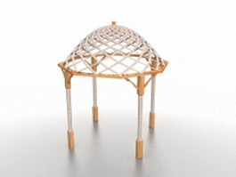 Backyard gazebo pergola 3d preview