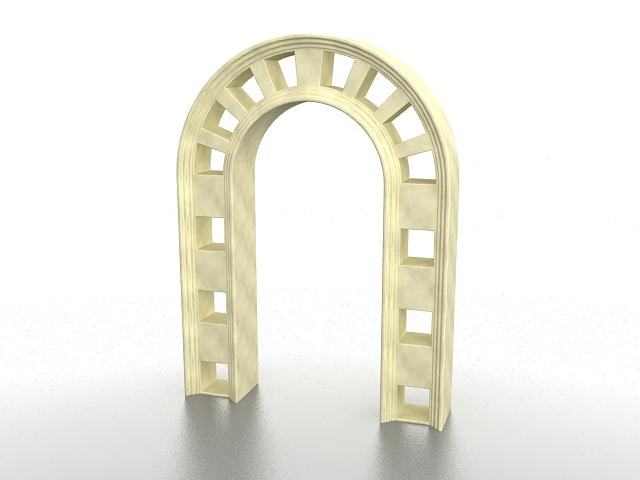 Marble garden arch 3d rendering