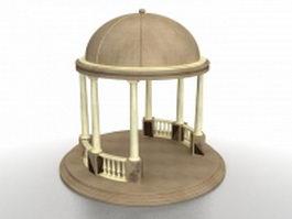 Dome gazebo 3d model preview