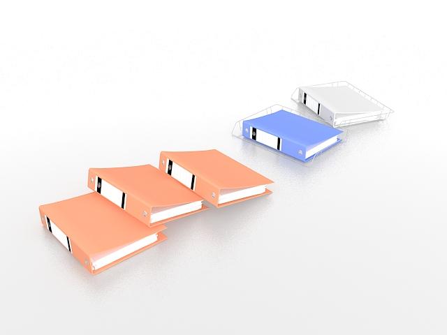 Ring binders 3d rendering