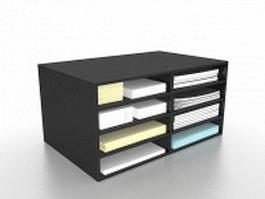 Desktop file holder 3d preview