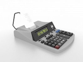 Accounting calculator 3d model preview