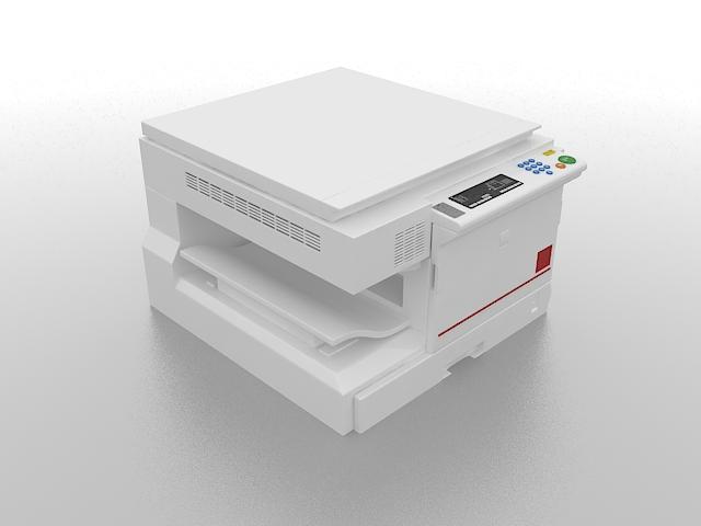Copier machine 3d rendering