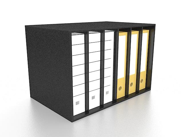 Desktop folder holders 3d rendering