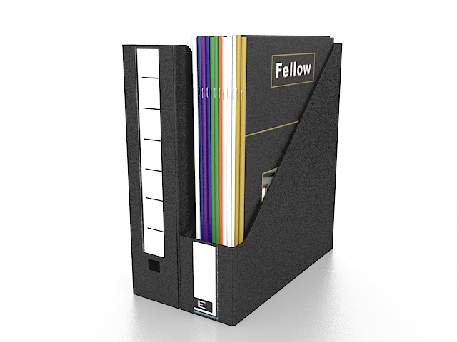 Upright file holder 3d rendering