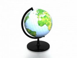 Desk world globe 3d preview