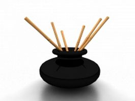 Chinese writing brush holder 3d preview