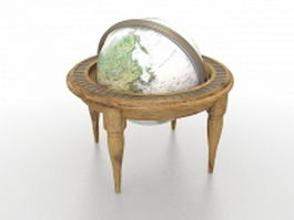 Antique globe 3d preview