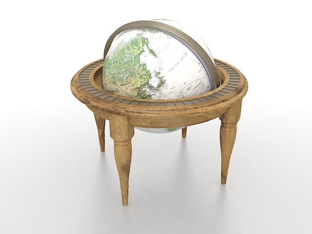 Antique globe 3d rendering