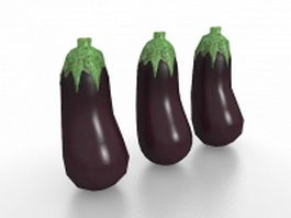 Japanese eggplant 3d preview