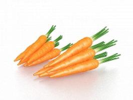 Carrots vegetable 3d preview