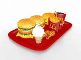 McDonalds happy meal 3d preview