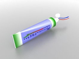 Toothpaste tube 3d preview