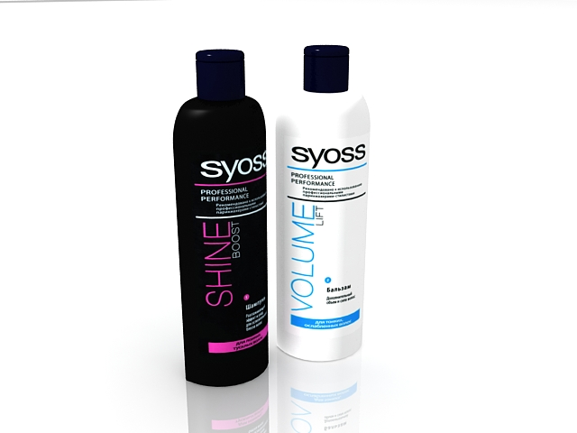 Syoss shampoo 3d rendering