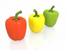 Capsicum sweet peppers 3d preview