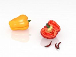 Bell peppers and chilies 3d preview