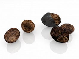Walnut nut 3d preview