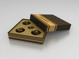Box of chocolate balls 3d preview