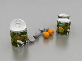 Canned apricots 3d preview