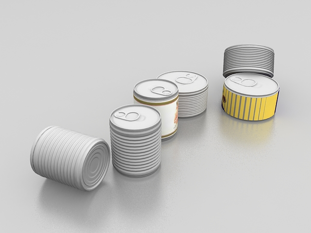 Salmon tin 3d rendering