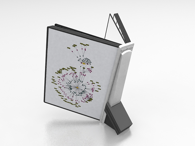 Reading book holder 3d rendering