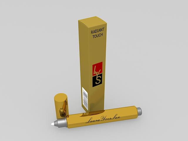 Makeup eraser pen 3d rendering