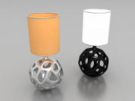Hollowed out ball lamps 3d model preview