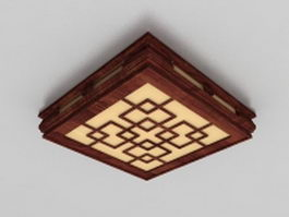 Ancient Chinese ceiling lighting fixtures 3d preview