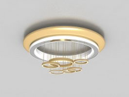 Ceiling lamp with swinging ring 3d preview
