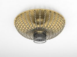 Crystal pendant light fixtures 3d preview