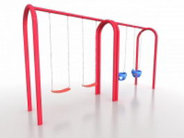 Commercial playground swing sets 3d preview