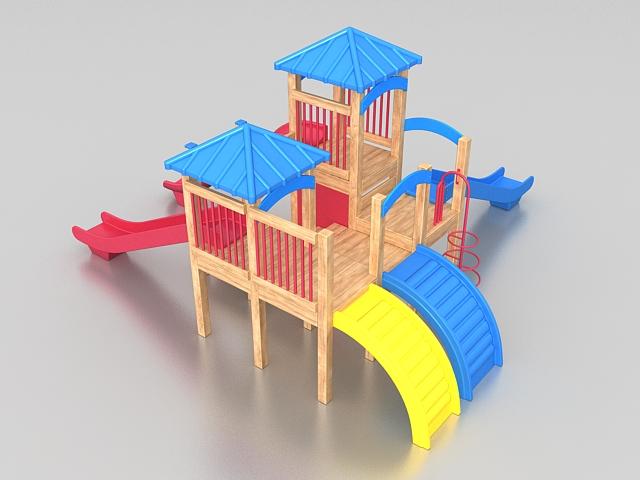 Toddler playground equipment 3d rendering