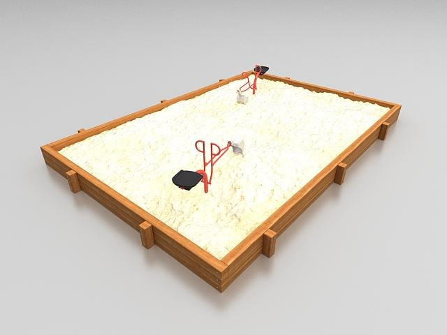 Kids sandpit 3d rendering