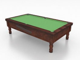 Vintage pool table 3d preview