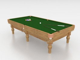 Rustic billiard table 3d preview