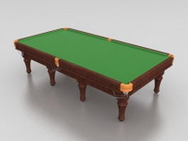 Snooker pool table 3d preview